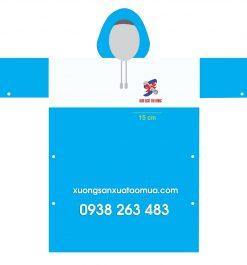 Áo Mưa Quà Tặng In Logo Anh Ngữ Tài Năng Super Kids